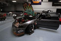 Shawn Nichols' custom 1994 Honda Civic hatchback track car