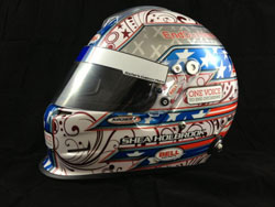 This Bell Helmet with Kocher Custom Paint is being raffled off to benefit Duchenne Muscular Dystrophy research.
