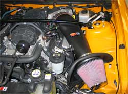 K&N air intake kit installed on 2007 Shelby Ford Mustang
