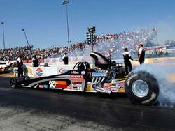NHRA Top Dragster Driver Sheldon Gecker at Infineon Raceway in Sonoma, California