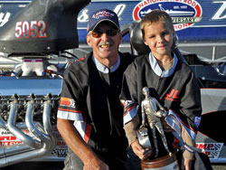 Sheldon Gecker wins Top Dragster at 24th annual FRAM-Autolite NHRA Nationals at Infineon Raceway