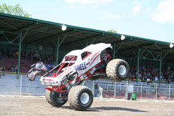 Shelley Kujat demonstrated the power of the Shell-Camino Monster Truck
