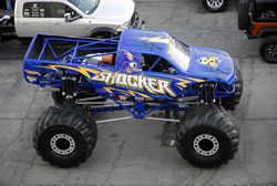 Shocker Motorsports uses a K&N air filter on their Monster truck because