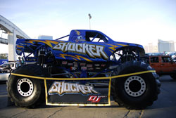 The Shocker Monster Truck was displayed at SEMA 2012