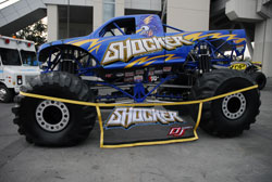 Much cleaning was needed to get the Shocker Monster Truck ready for SEMA 2012
