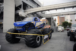 Shocker competes in Monster Truck competitions on the west coast and made its way out to the 2012 SEMA Show