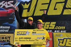 Slate Cummings took the win at the Route 66 Raceway in Joliet, Illinois
