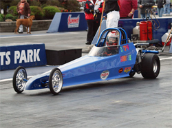 Junior Drag racer Sonsee Trubach at Summit Motorsports Park in Norwalk, Ohio