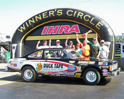 IHRA Racer Michael Beard captured the Stock Eliminator title at the IHRA Spring Nationals in Rockingham, North Carolina