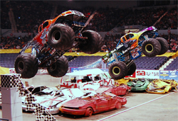 Black Stallion and Iron Warrior have updated their shock programs to keep up with the demands of Monster Jam Competitions