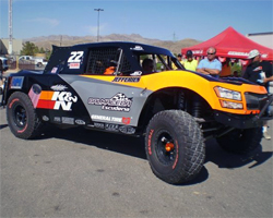 Damen Jefferies will take his K&N Filters No. 22 Trophy Truck to the SCORE Baja 1000 on Mexico's Baja California Peninsula
