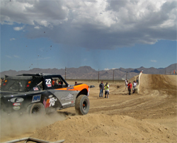 Damen Jefferies at the start of the SCORE Terrible's Primm 300 about 45 miles south of Las Vegas, Nevada