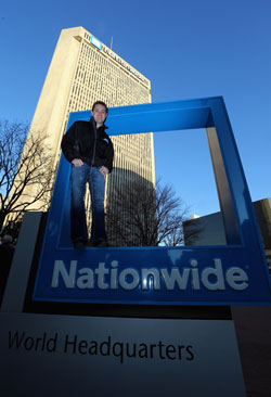Ricky Stenhouse Jr at Nationwide World Headquarters