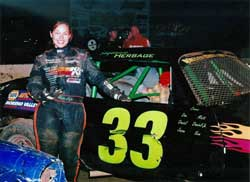 Stephanie was all smiles after her third place finish and second podium back in July at Perris Auto Speedway.
