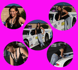 When she's not racing Super-Steffie is the official Perris Auto Speedway pace car driver.