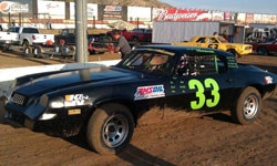 It required the entire Herbage Family Flying Circus team to get Stephanie's new car into winning form at Perris Auto Speedway, which is why she shares her first win with them.