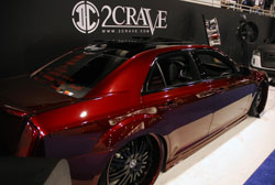Steve Burkett's latest project, a 2012 Chrysler 300 V6 model, was displayed at the 2012 SEMA Show