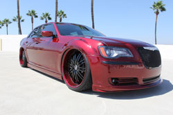 Late model, custom paint, big wheels, engine mods equates to 2012 SEMA worthy Chrysler 300