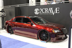 SEMA 2012 had many late model vehicles on display and Steve Burkett's custom 2012 Chrysler 300 3.6 liter engine was one of them