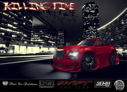 Cartoon imaging is quite popular these days and it definitely gives a different perspective on this 2012 Chrysler 300 SEMA car