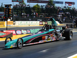 Steve Williams and his Super Comp Dragster at NHRA Div. 6 event in Kent, Washington