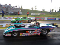 K&N Vice Presendent Steve Williams outran Shawn Carter for the NHRA Kansas Nationals Super Gas win