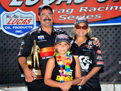 Steve Williams and Family in Victory Lane at the NHRA Sonoma Nationals