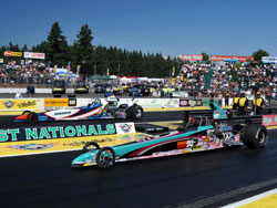 K&N V.P. Steve Williams at the O'Reilly Auto Parts NHRA Northwest Nationals