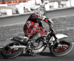 Rockstar Energy Hart and Huntington Tattoo Co team rider Steve Drew, photo by Eric Dutra