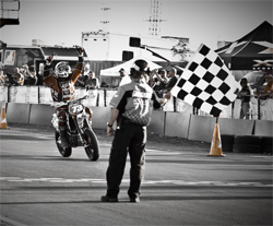The final race of the AMA Supermoto Series was held at Infineon Raceway in Sonoma, California, photo by Eric Dutra