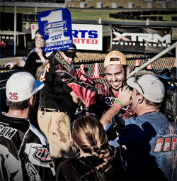 Steve Drew is first in overall points for AMA Supermoto Unlimited Group in 2008 Supermoto Series, photo by Eric Dutra