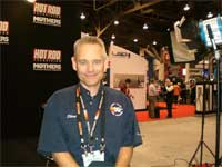 K&N CEO Steve Rogers in the Hot Rod Television Booth at SEMA