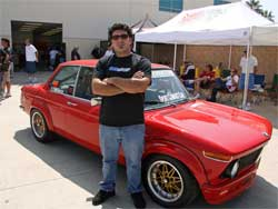 Ed Haroutonian and his 1969 2002 Model BMW