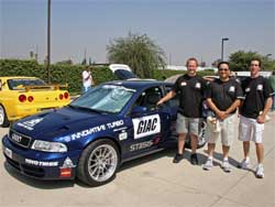 Brent Mattraw (center) and 200l Audi S4