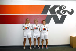 Player Alisha Foote, Midfielder Katie Tarrant and Midfielder Amy Chapman at K&N