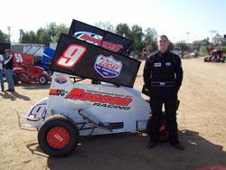 Stuart Hielscher Jr and the No. 9 Lightning Sprint Car