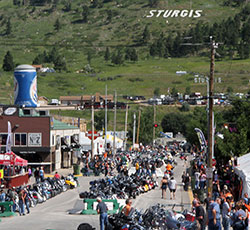 76th world famous Sturgis motorcycle rally in the Black Hills of Rapid City, South Dakota