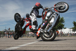 Aaron Cline teamed up with local stunters and  performed a couple of shows around the Kansas City area.