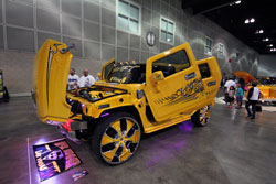 This custom Hummer H2 was on display at the Dub Car Show in Los Angeles
