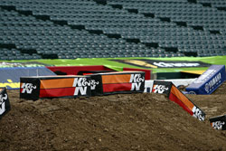K&N Banners placed in key locations around the track, show support from K&N throughout the 2011 AMA Supercross Series and FIM World Championship Series.
