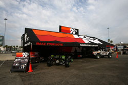 K&N will be set up at all AMA Supercross races with a display booth and technical support to educate consumers on K&N Products.  Select events will have the newly built K&N Truck & Trailer displaying different types of filtration testing equipment and displays.
