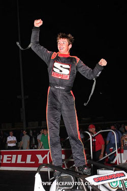 Tanner Swanson in Victory Lane