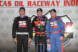 "By sweeping the ""Thursday Night Thunder"" at Lucas Oil Raceway the Swanson brothers go down in the record books as the first to win at the newly renamed track."