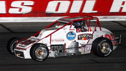 With Tanner Swanson's third place finish in the JD Byrider 100 at Lucas Oil Raceway he is now in a tie for the points lead in the Silver Crown Championship series. Photo By: Chris Pedersen, Race Photo 1.