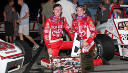 With Kody's and Tanner's first and third place finish, Team 6R Racing now holds sole possession of the all-time USAC Sillver Crown wins. Photo By: Chris Pedersen, Race Photo 1.