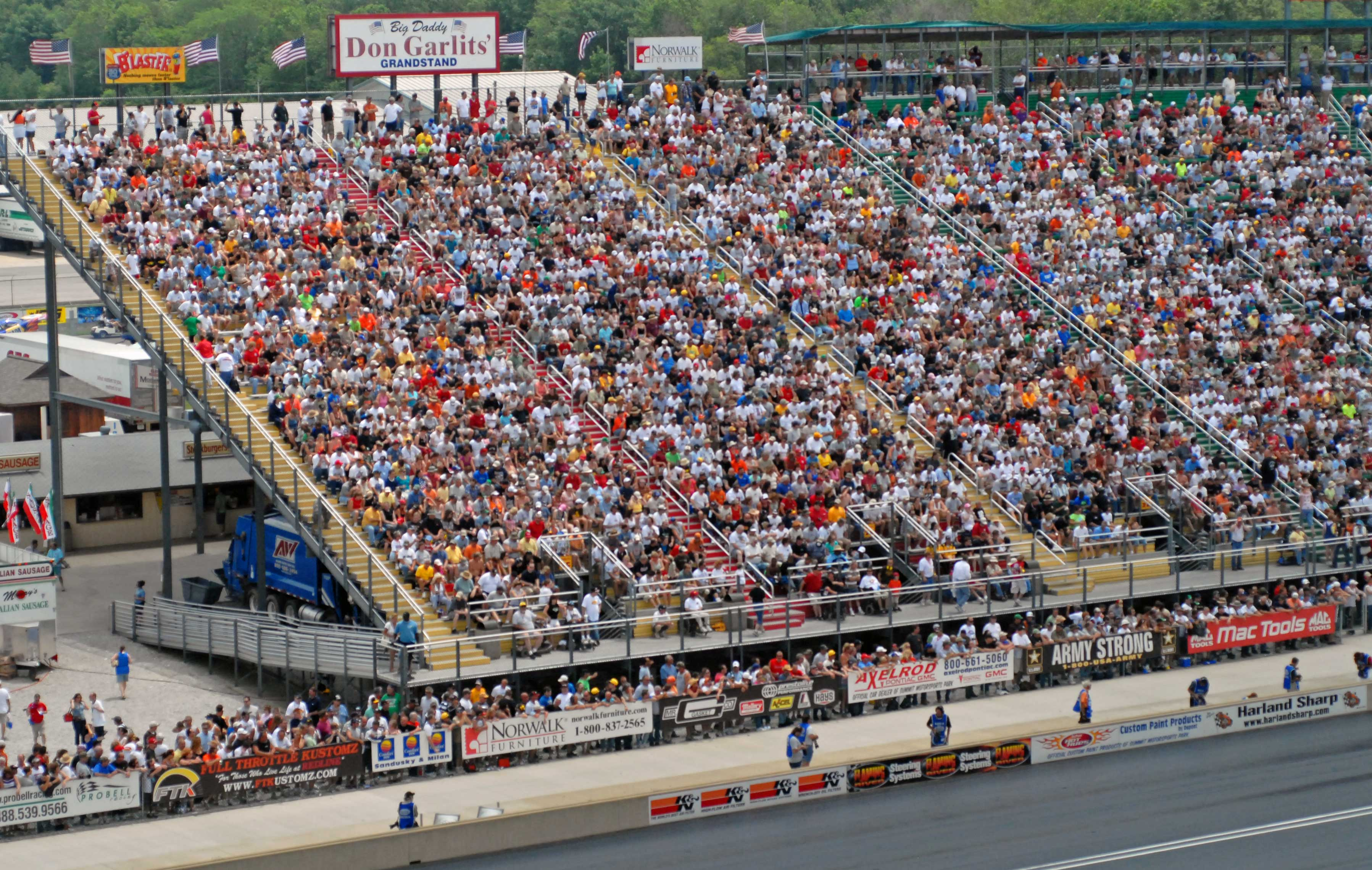 Suite view at NHRA Summit Racing Equipment Nationals in Norwalk, Ohio