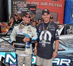 Allen Johnson and Pontiac G6 GXP Coupe Winner Edward Merry, Jr.