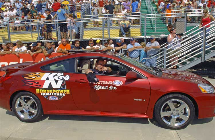 Nhra Pro Stock Driver Wins Pontiac G6 Gxp Coupe For K Amp N