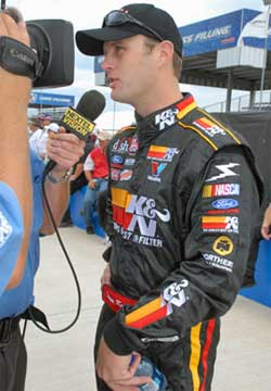 Travis Kvapil at Talladega Superspeedway