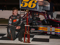 Tanner Swanson at Madera Speedway - Super Modified Victory lane